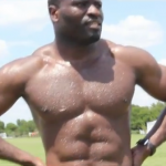 Beefcake George Elokobi Posts Topless Owen Hargreaves-Style Fitness Tape On Youtube (Video)