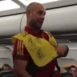 Pepe Reina Plays Air Stewardess On Spain&#8217;s Plane Journey Home (Video)