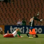 Football Faceplant: Israel Keeper Dudu Aouate Reenters Earth's Atmosphere Face First vs Hungary (Video)
