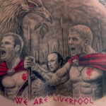 Football Ink: Liverpool Fan Gets Epic(ly Terrible) 'We Are Sparta' Tattoo Of Gerrard, Carragher & Rafa Benitez