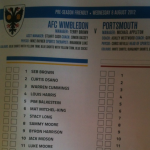 Just Depressing: Portsmouth&#8217;s Teamsheet For Pre-Season Friendly vs AFC Wimbledon&#8230;