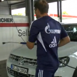 Klaas-Jan Huntelaar Forced To Wash Benedikt Howedes&#8217; Car After Losing Euro 2012 Bet (Video)