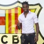 First Photo: Alex Song's First Day At Barcelona – Wears Snazzy Purse-On-A-Chain…