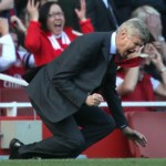 Football GIF: Arsene Wenger Spins Right Round (Like A Record, Baby) In Despair At Olivier Giroud's Miss