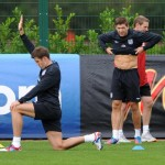 England Strike Some Fierce Poses, Train At London Colney Ahead Of Ukraine Qualifier (Photos)