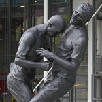 Football Art: Statue Of Zidane Headbutting Materazzi Installed Outside Pompidou Centre, Paris (Photos)