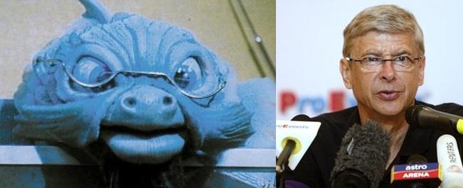 Arsene Wenger dan tokoh ikan tua di film 'Wizadora'