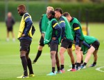 Soccer - UEFA Champions League - Group B - Arsenal v Olympiakos - Arsenal Training - London Colney