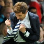Football GIF: Andre Villas-Boas Enjoys Solo Celebration, Does Not Want To Be Touched!