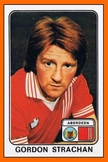 Gordon STRACHAN Panini Aberdeen 1979