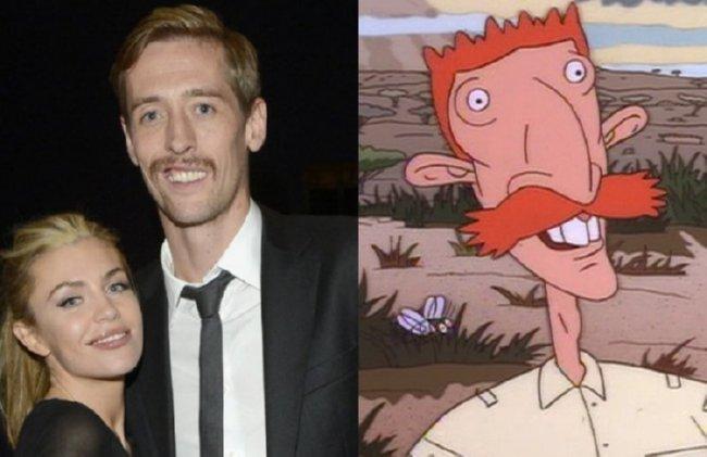 Peter Crouch dan tokoh kartun Nickelodeon di tahun 90an, Nigel Thornberry