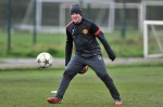 Soccer - UEFA Champions League - Group H - Galatasaray v Manchester United - Manchester United Training Session - Carrington Training Ground