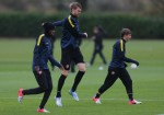 Soccer - UEFA Champions League - Group B - Arsenal v Montpellier - Arsenal Training - London Colney