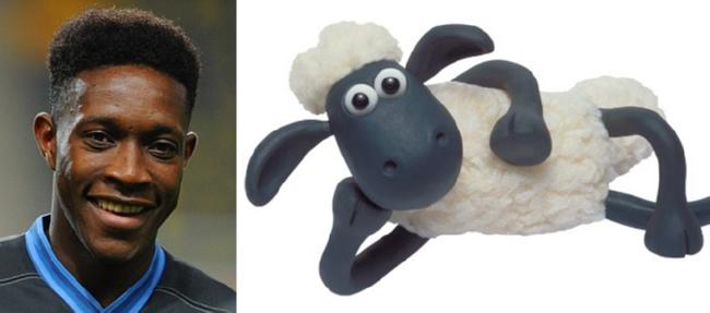 Danny Welbeck dan Shaun The Sheep