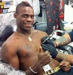 Mario Balotelli Celebrates Goal Against Wigan With Shiny New Genghis Khan-Inspired Tattoo (Photos)