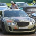 Mario Balotelli Tastefully 'Camouflages' His £160,000 Bentley Continental (Photo)