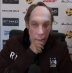 Roberto Mancini Conducts Man City Press Conference In David Platt Mask (Video)