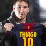 Lionel Messi Welcomes First Son, Little Thiago Into World – Already Has Barcelona Shirt With His Name On (Photo)
