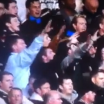 Moronic West Ham Fans Bring Shame On Their Club, Flash Nazi Salutes To Tottenham Fans (Video)