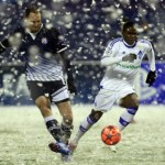 Football GIF: Heavy Snow Sees Dinamo Zagreb vs Dynamo Kiev Set All-Time Low Attendance Record