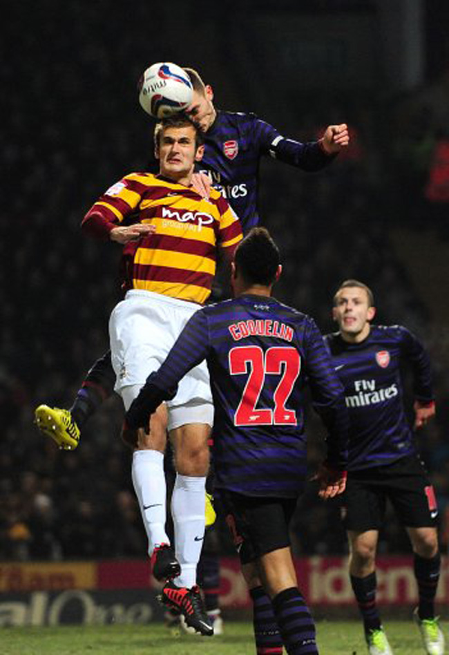 Soccer - Capital One Cup - Quarter Final - Bradford City v Arsenal - Coral Windows Stadium