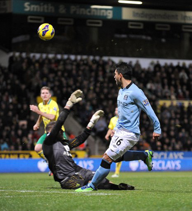 Soccer - Barclays Premier League - Norwich City v Manchester City - Carrow Road