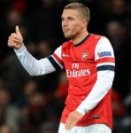 'S**t Happens…' – Philosophical Lukas Podolski Posts Twitter And Facebook Updates After Arsenal's Defeat To Man City