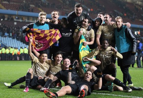 Soccer - Capital One Cup - Semi Final - Second Leg - Aston Villa v Bradford City - Villa Park