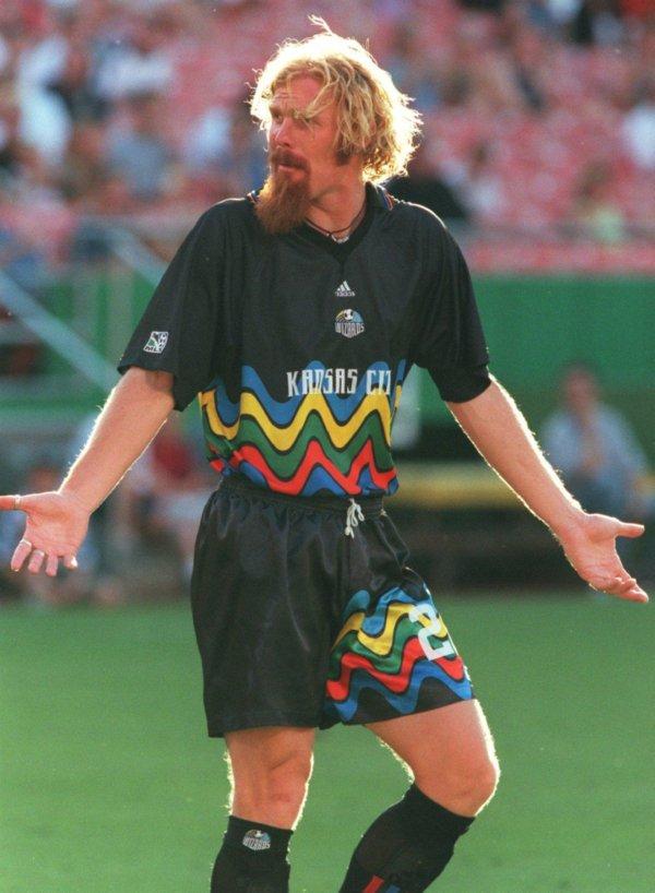 low priced 1a5b9 0ed16 Shit Football Kits: Kansas City Wizards' Radical Rainbow ...