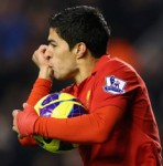 Football GIF: Luis Suarez Handles The Ball Before Scoring Against Mansfield, Cue Another Silly Media Storm
