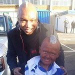 Young Leeds Fan Meets Hero El Hadji Diouf In Full 'Black Face' (Photo)