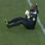 Africa Cup Of Nations: Congo Keeper Robert Kidiaba Celebrates Penalty With Bum Bounce Shuffle (Video)