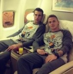 Snapshot: Just Robin Van Persie & Alex Buttner In Matching Bugs Bunny Pyjamas…