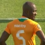 AfCoN: Didier Zokora Wears Name 'Maestro' On Shirt, Looks Bit Of A Pillock