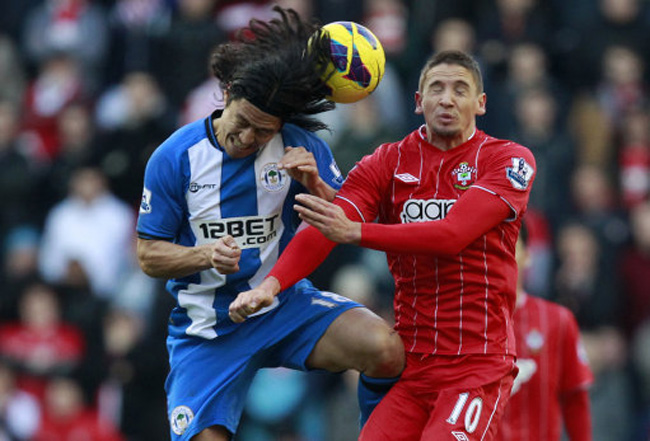 Soccer - Barclays Premier League - Wigan Athletic v Southampton - DW Stadium