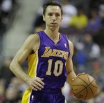 Basketball GIF: LA Lakers' Steve Nash Displays Neat Football Skills On Court