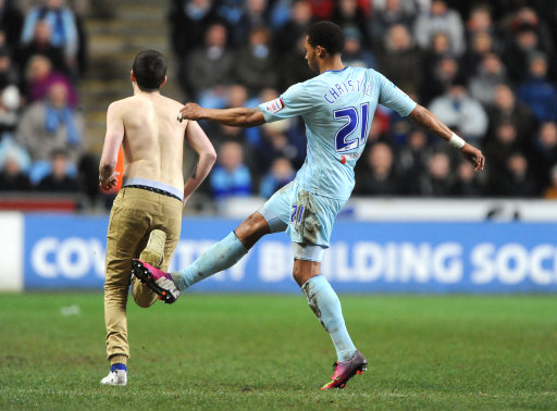 Coventry Citys Cyrus Christie Booked Tripping Pitch