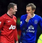 Phil Neville Takes Worst Thrown-In Ever During Man Utd v Everton Clash (Video)