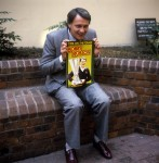 England manager Bobby Robson, pictured with his new autobiography 'Time On The Grass', 1982