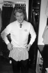 England manager Bobby Robson gets kitted out in a top West End store in London's Oxford Street, where the whole team were given a new wardrobe of clothes to ensure that they make a good impression when they take part in the European Championships, 1980