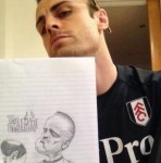 Football Art: Dimitar Berbatov Draws Celebrity Caricatures On The Side (Photos)