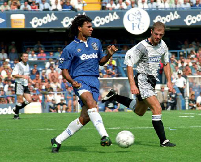 Ruud Gullit playing for Chelsea