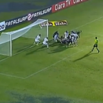 Brazilian Side Caxias Spark Superb Rain-Drenched Goalmouth Scramble vs Internacional (Video)