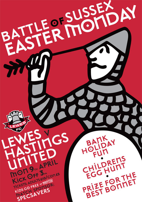 39860cbeeed Football Art  Non-League Lewes FC Have Cornered The Market In Brilliant  Matchday Posters (Photos)