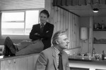 Brian Clough and his faithful assistant Peter Taylor await conformation that their resignations have been accepted by the Derby board, 1973
