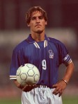 Totti on Italy U21 duty against England, 1997