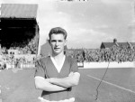 Brian Clough, aged 21 here, lines up for Middlesbrough ahead of their Division Two game against Leyton Orient, 1956