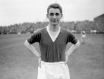 Brian Clough poses for a photo ahead of Boro's game against Fulham at Craven Cottage, 1958