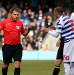 Football GIF: QPR's Bobby Zamora Boots Jordi Gomez In The Head
