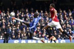 Demba Ba unfolds a leg to hook in the only goal of the game